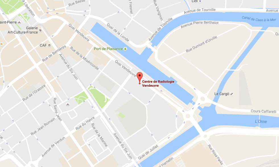 Google MAP : 8 Quai Vendeuvre, 14000 Caen, France